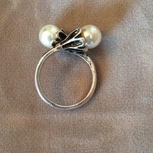 Open Cuff Pearl Ring